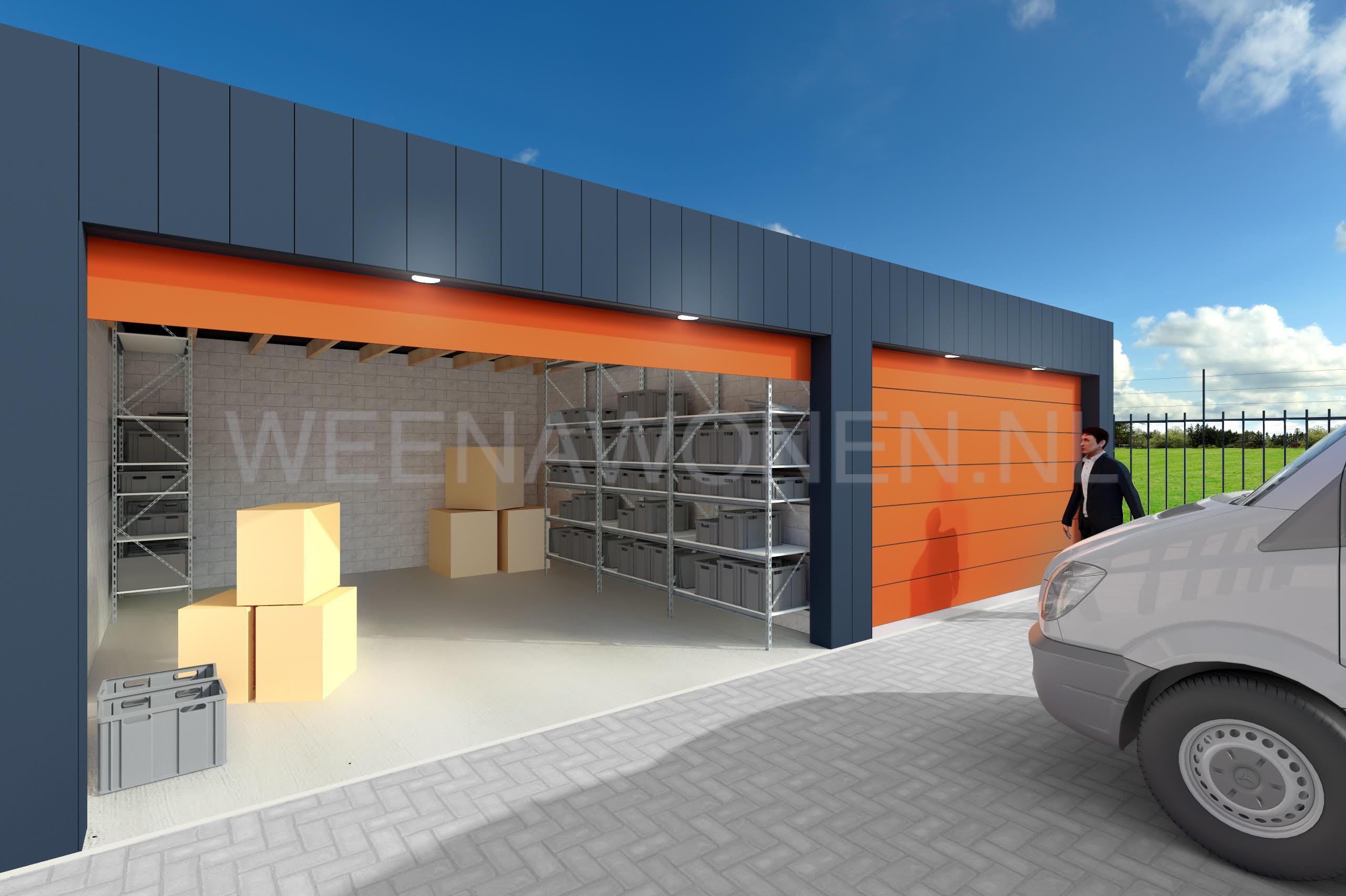 Te huur garageboxen in Terbregge te Rotterdam (Hillegersberg).